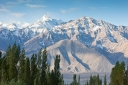 View of the Himalaya's from the outskirts of Leh, Laddakh, India